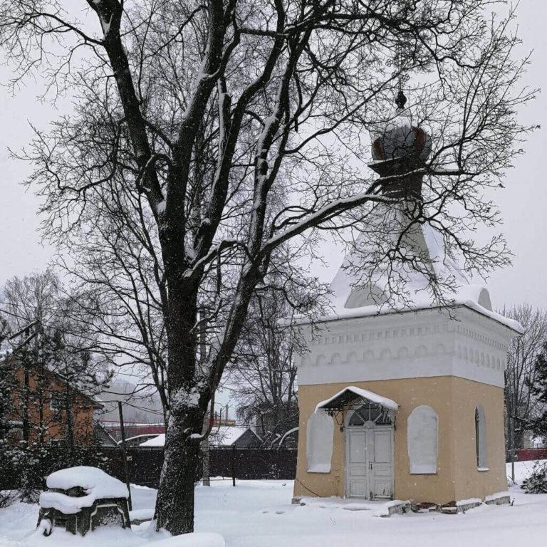 Фото часовня Александра Невского в Мурино