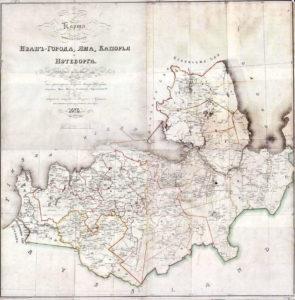Карта Ингерманландии 1676